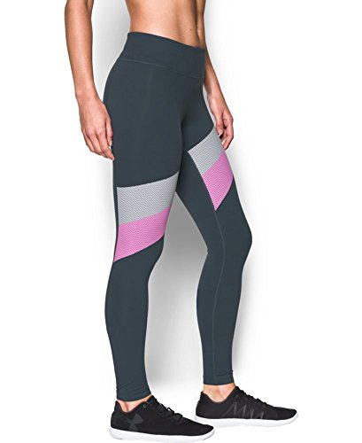 Under Armour Women's Mirror Stripe Legging, Stealth Gray (008), X-Large