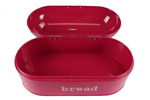 Red-Pink-Deep-Salmon-Color-Stainless-Steel-Vintage-Bread-Box-for-Kitchen-Storage-17-x-85-x-85-in
