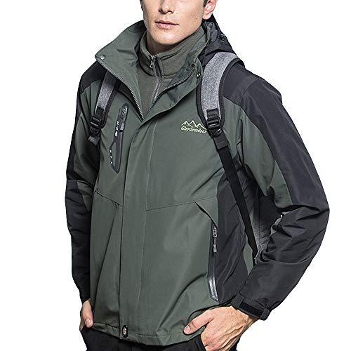 Dacawin Men's Winter Coat Sale Two Piece 3 in 1 Warm Windproof Outdoor Mountaineering Wear