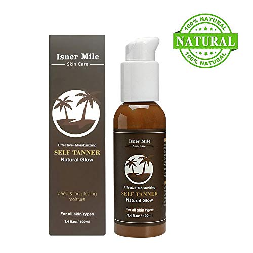 Self Tanner, Sunless Tanning Lotion with Natural and Organic Ingredients, Sun Tanning Serum Vitamin E & Aloe Extract for Bronzer Flawless Darke skin for face and body, Fake ()