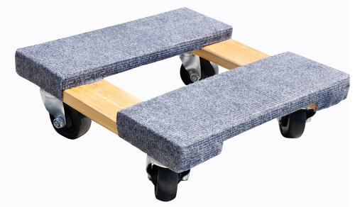 Milwaukee Hand Trucks 33815 Gleason Carpeted End Furniture Dolly, 800 Lb, L X 15 in W, Hardwood