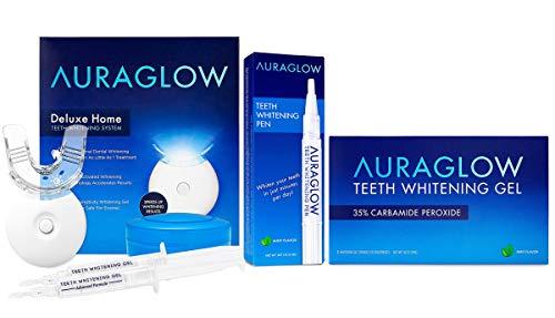 AuraGlow Whitening Kit, Whitening Pen & Whitening Gel Bundle