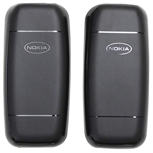 FCS Mobile Back Cover for Nokia 105 2017  Pack of 2   Black