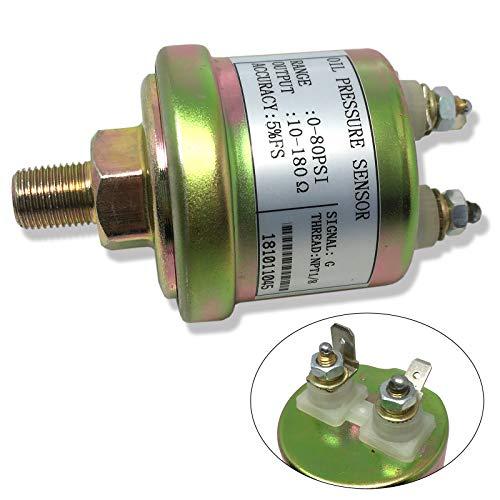 CBK Oil Pressure Sender, VDO type, 0-80 psi, 10-180 ohms, w/16 psi Low Alarm switch
