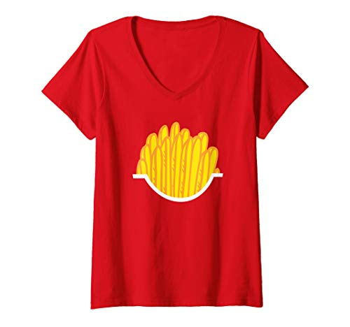 Womens French Fries in a Box V-Neck T-Shirt]()
