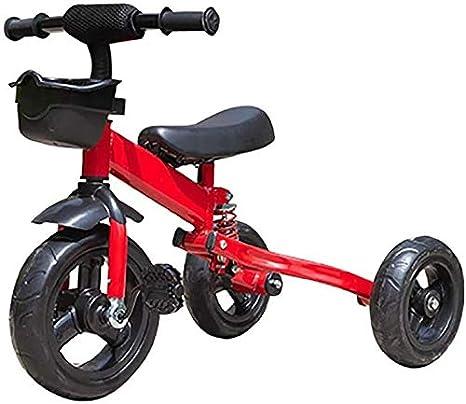 JINHH Pequeña Bicicleta, Triciclo Plegable Kid Bicicletas 1/3/6 Año Triciclo Antiguo Kid Bicicletas Niños Portable Al Aire Libre Y Seguridad del Triciclo (Color: Negro)