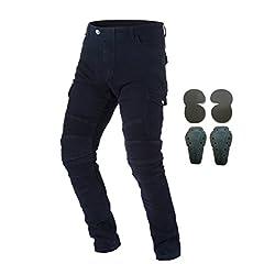"-Material: 14oz Denim Cloth,97% Cotton + 3% Spandex - Color:Army Green,Blue,Black - Size:S=28,M=30,L=32,XL=34,XXL=36,XXXL=38 - S=28,Waist 80cm/31.5"",Length 105cm/41.33"",Hip Circumference 100cm/39.37"";(suit for weight:120LBS-135LBS) - M=30,Wai..."