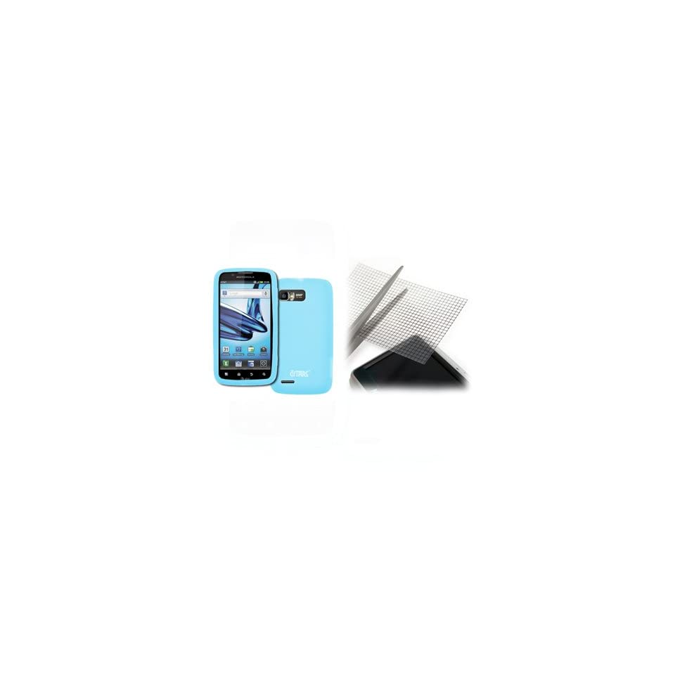 EMPIRE Motorola Atrix 2 Light Blue Silicone Skin Case Cover + Universal Screen Protector [EMPIRE Packaging]