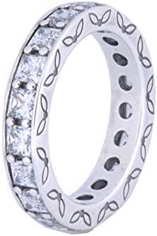 PANDORA Ring Infinity, 8.5 LRG, 2PC Bundle w/ PANDORA Gift Box 190894CZ