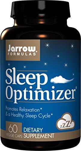 Jarrow Formulas Sleep Optimizer, Promotes Relaxation & a Healthy Sleep Cycle, 60 Caps (Jarrow Formulas Adrenal Optimizer)