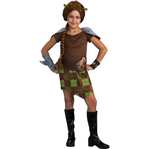 Fiona Warrior Girls Costumes (Princess Fiona Warrior Costume - Small)