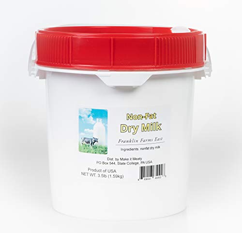 Powdered Nonfat Dry Milk – 3.5lb.- bulk, packaged for long-term storage.