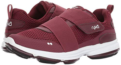 Ryka Women's Devotion Plus Cinch Walking Shoe, Wine/Black, 7 M US