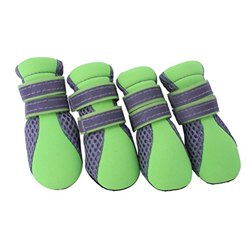 UEETEK Summer Breathable Mesh Small Dog Shoes Nonslip Soft Sole Dog Boots Size XL-2.3 1.9 inch (L W)