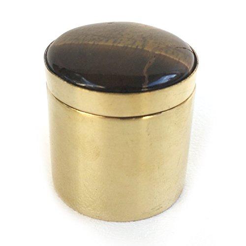 Addison Weeks Ring Box Tigers Eye Brass