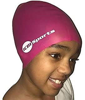 ae2f97c91ca I Can't Beweave It! Kids Children's Swimming Cap Hat for Extra Large Long