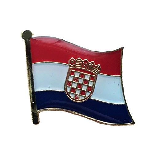 Backwoods Barnaby Croatian National Flag Pin (Croatia broach, 0.75