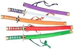 Fun Express Neon Plastic Samurai Swords (1 Dozen)