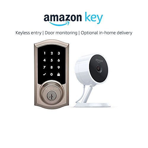 Kwikset 916 Smartcode Zigbee Touchscreen Smartlock Traditional Style in Nickel + Amazon Cloud Cam, works with Amazon Key