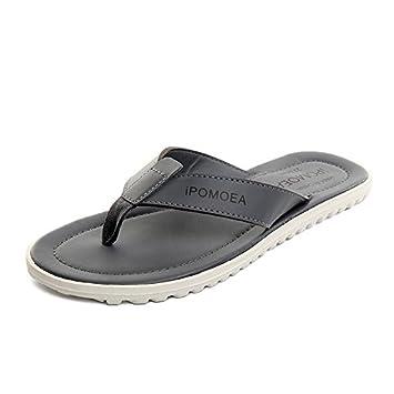 87a0c25fa AIHUWAI Sandals Men Sandals Flip-Flops Male Summer Leisure Flip Flops  Sandals And Slippers Male Non-Slip Wearable Beach Shoes  Amazon.co.uk   Sports   ...