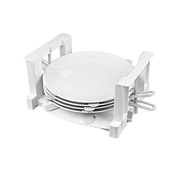 41XmJDg4vOL Froli Tellerhalter Wohnmobil Wohnwagen, 6 Teller Geschirrhalter, Kunststoff, Tellergrößen zwischen 200-300 mm (1)