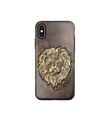 MARYBLE 3D Lion Designer PU Leather Phone Case for iPhone X (2017) / iPhone Xs case (2018)