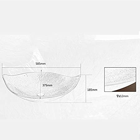 HomeLava Lavabo de Cristal Sobre Encimera Moderno Dise/ño de Hoja con Grifo de Cascada verde