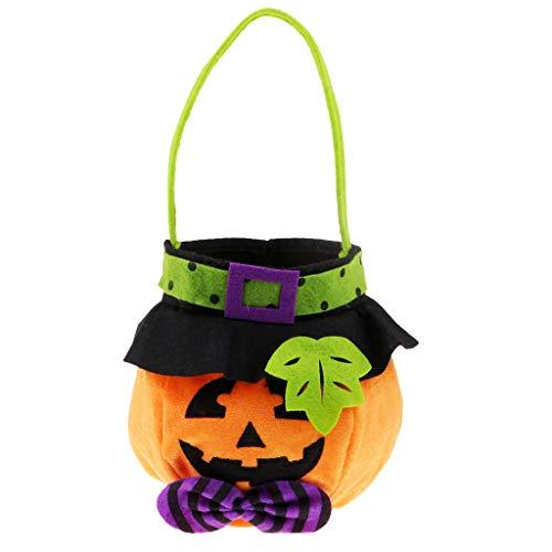 SM SunniMix Halloween Pumpkin Ghost Monster Kids Skull Candy Trick Or Treat Bag Toy]()