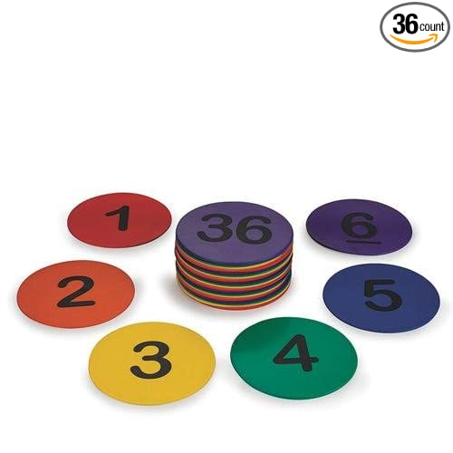 Spectrum 5 Numbered Spot Markers (set of 36)