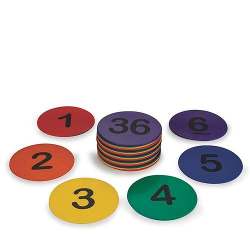 Spectrum 5' Numbered Spot Markers (set of 36)