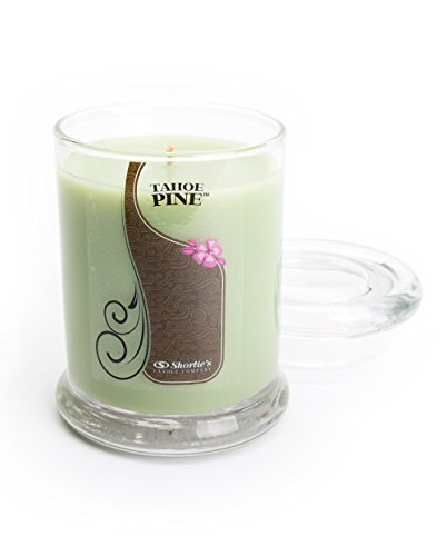 Tahoe Pine Candle - 6.5 Oz. Highly Scented Green Jar Candle - Clean Candles Collection