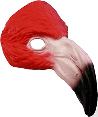 Pink Flamingo Mask for Halloween Costume