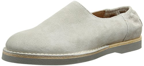Shabbies Amsterdamlow Norfolk flat sole - Mocasines Mujer Gris (Grey)