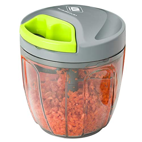 kalokelvin Food Onion Chopper 5 Blades Vegetable Blender Food Processor with Bowl & Removable Blade/Durable BPA Free Food Safe Material (900 ML)