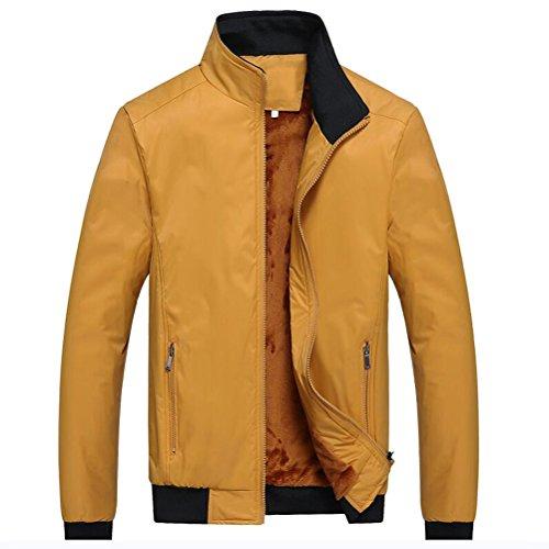 Outerwear Yellow Mens Stand Thicken Jackets Plus Zhuhaitf Warm Collar Winter Coats Velvet qTOwfFPXxn