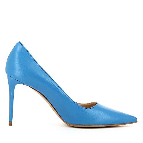 Blue Royal Décolleté Natalia donna Leather Shoes Smooth da Evita nBCww