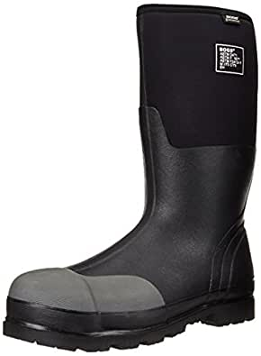 Bogs Men's Forge Steel Toe Waterproof Insulated Work Boot, Black,7 M US