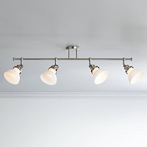 Luca 4-Light Satin Nickel Opal White Shades Track Fixture - Pro Track by Pro Track (Image #3)
