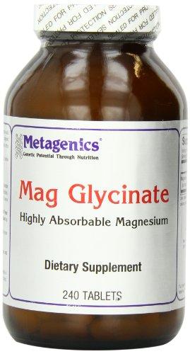 Metagenics - Mag Glycinate magnésium hautement absorbable - 240 Comprimés