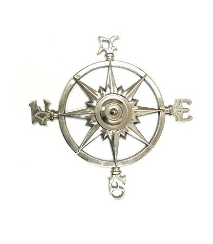 Aluminum Compass Rose Nautical Wall Plaque -Wall Medallion