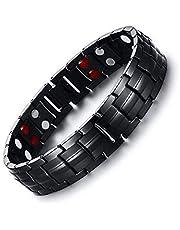 Black Men Titanium Bracelets & Bangles Magnetic Health Power Sports Jewelry