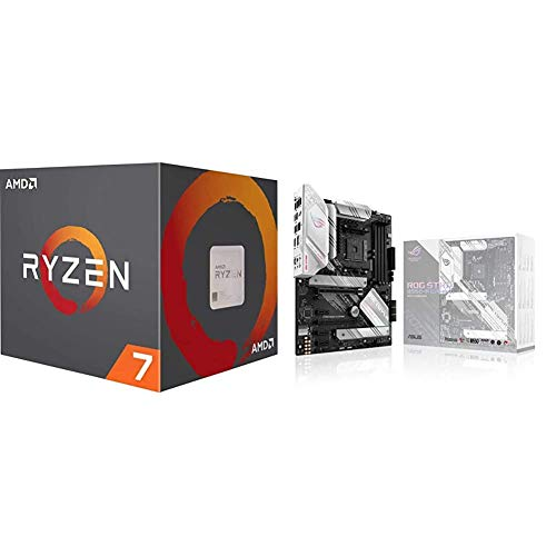 AMD Ryzen 7 3800X 8-Core, 16-Thread Unlocked Desktop Processor with Wraith Prism LED Cooler and ASUS ROG Strix B550-A Gaming AMD AM4 (3rd Gen Ryzen ATX Gaming Motherboard