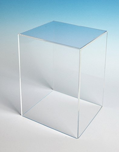 CHOICE ACRYLIC DISPLAYS Acrylic Box Case 5 Sided Display Box Museum Box Case Square Box Acrylic Cube 18 H x 12 W x 12 D