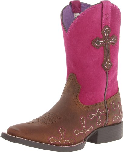 Kids' Crossroads Boot (Toddler/Little Kid/Big Kid),Distressed Brown/Fuchsia,5 M US Big Kid