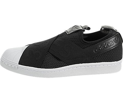 adidas Womens Superstar Slip-On Sneaker  US)