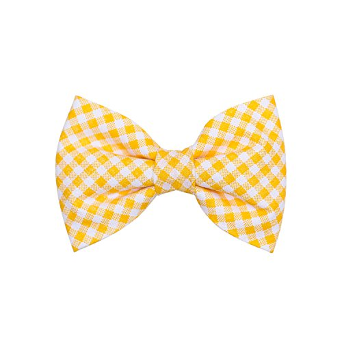 THE DOK Mustard Stripe – Dog Cat Pet Bow Tie Bowtie Collar Accessory 4 inch