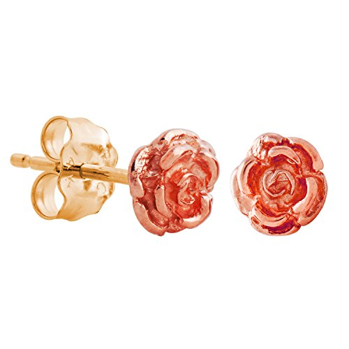 Black Hills Gold Rose Earrings Gold Dakota Rose