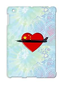 J20 Chinas Love Fighter Military Jet China Heart Careers Professions Red Case Cover For Ipad 4 TPU
