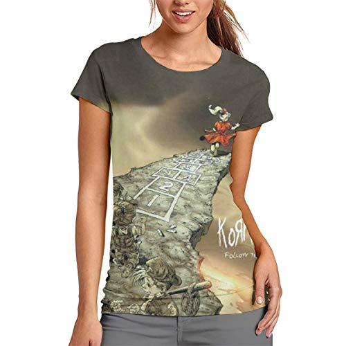 ZJXL Korn Follow The Leader T Shirts for Women Jersey Shirt Top Tees 3D Printed M