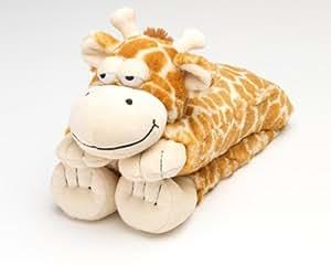 Intelex - Calentador para el cuello, diseño de jirafa de peluche (se calienta en el microondas), color marrón